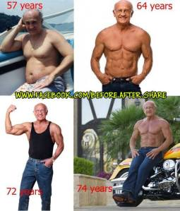 72 years bodybuilder