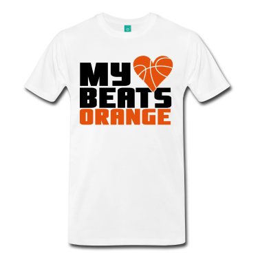 Basketball--My-heart-beats-orange-T-Shirts